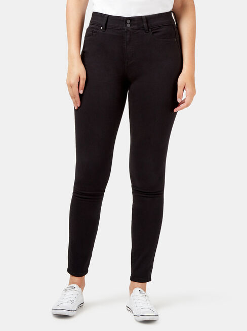Tummy Trimmer Skinny Jeans Black Night
