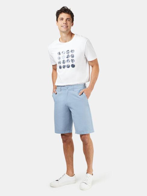 Hayden Textured Chino Short, Blue, hi-res