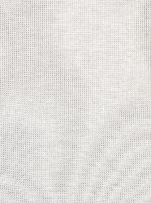 Max Curve Hem Textured Top, White, hi-res