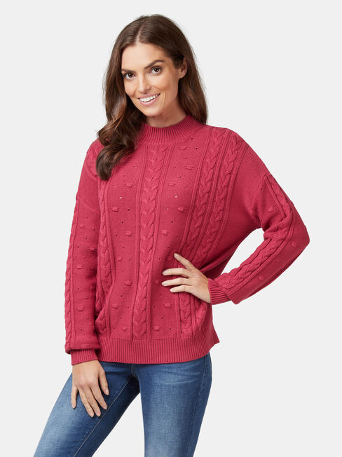 Bobby Bobble Pullover, Red, hi-res