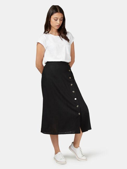 Daisy Button Front Skirt
