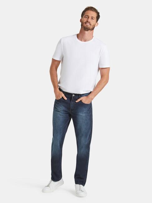 Slim Straight Jeans Storm Indigo, Mid Indigo, hi-res