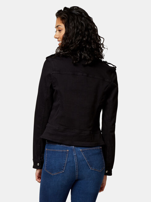 Natalie Casual Jacket, Black, hi-res