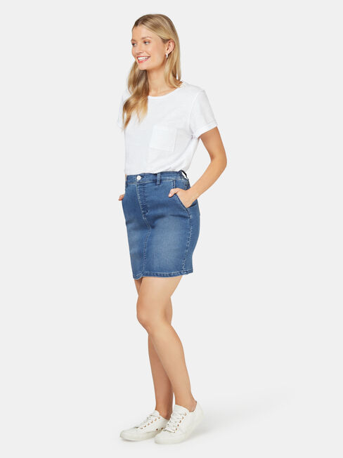 Bella Luxe Lounge Skirt, Blue, hi-res