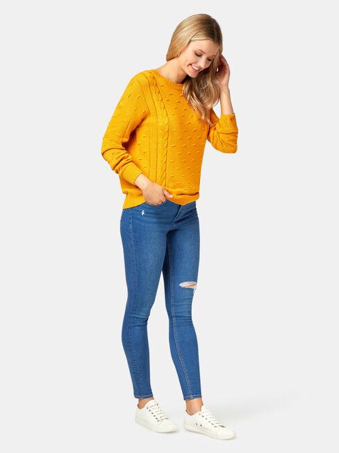 Abby Bobble Knit, Yellow, hi-res