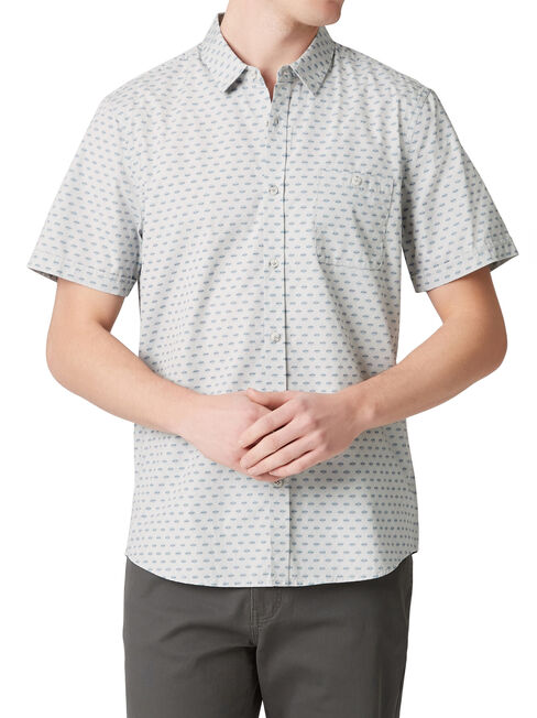SS Brookhill Print Shirt, Blue, hi-res