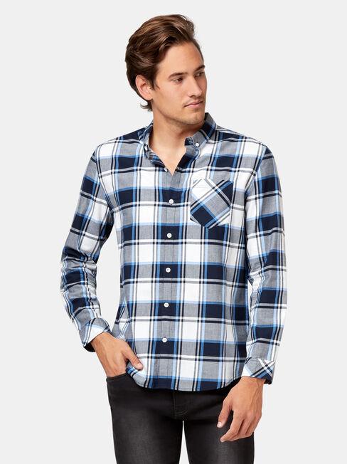 LS Angus Check Shirt, White, hi-res