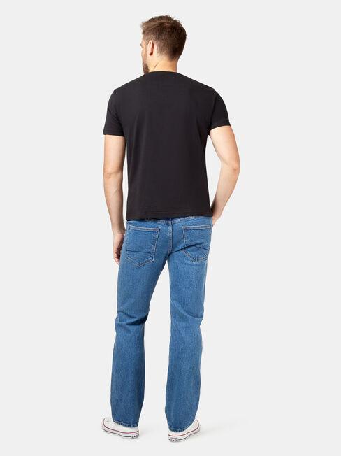 Straight Leg Jeans True Classic, Mid Indigo, hi-res