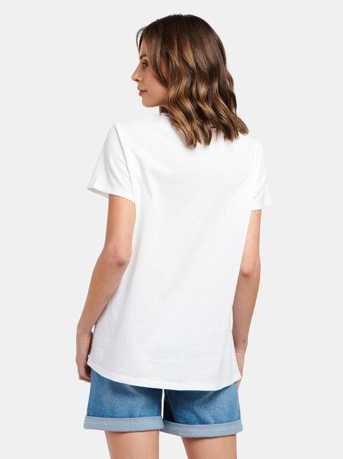 Sia Printed Top, White, hi-res