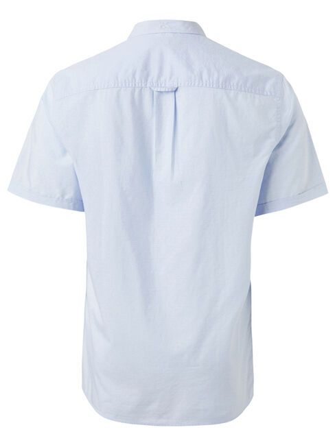 Wallace Short Sleeve Dobby Shirt, Blue, hi-res