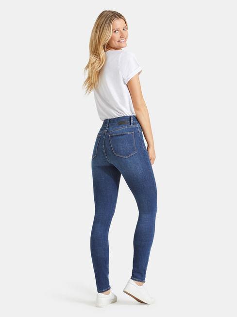 Tummy Trimmer Skinny Jeans True Vintage, Mid Indigo, hi-res