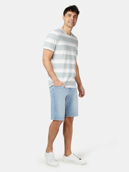 Patrick Short Sleeve Stripe Crew Tee, Stripe, hi-res