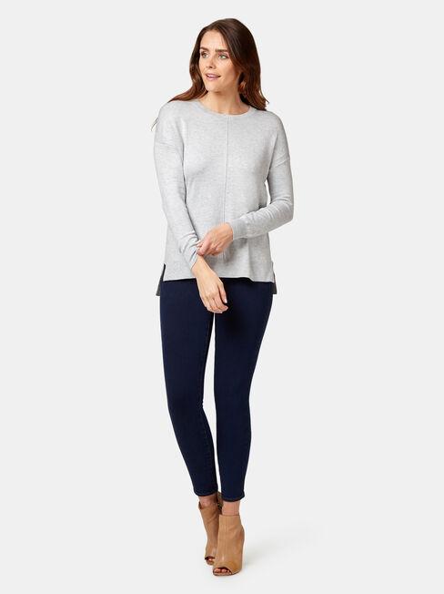 Sarah Knit Pullover, Grey, hi-res