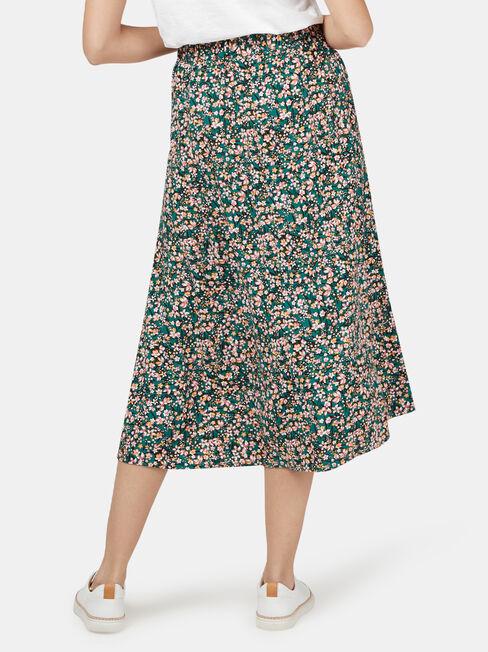 Valerie Midi Skirt, Green, hi-res