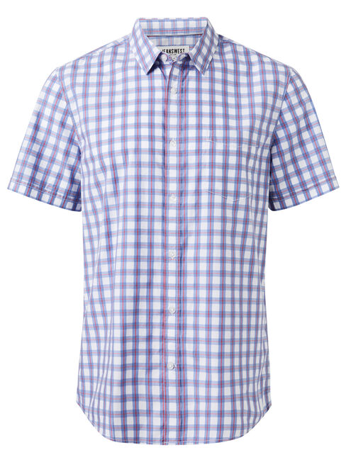 SS Roy Check Shirt, Blue, hi-res