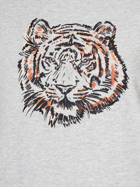 Tiarn Tiger Tee, Grey, hi-res