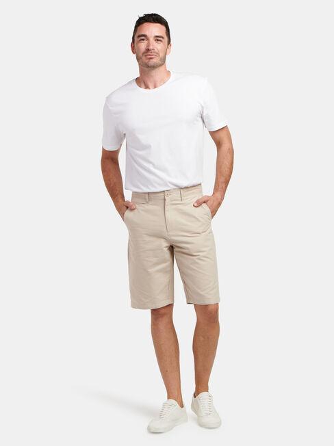 Hayden Textured Chino Short, White, hi-res