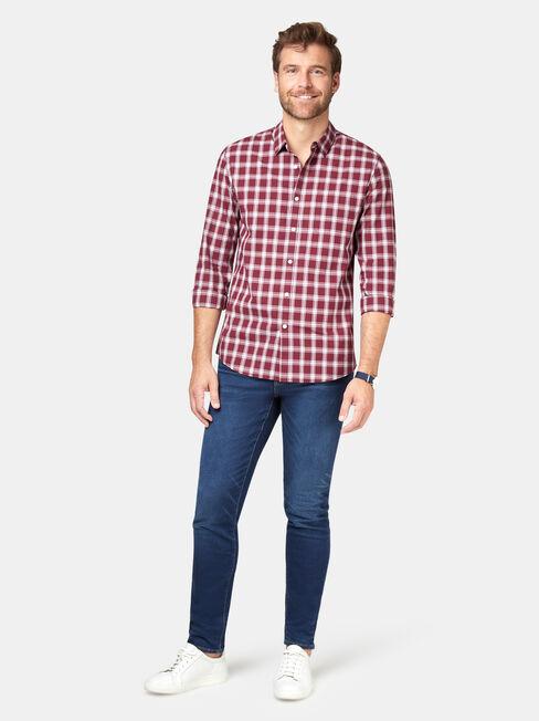 Turner Check Shirt, Red, hi-res