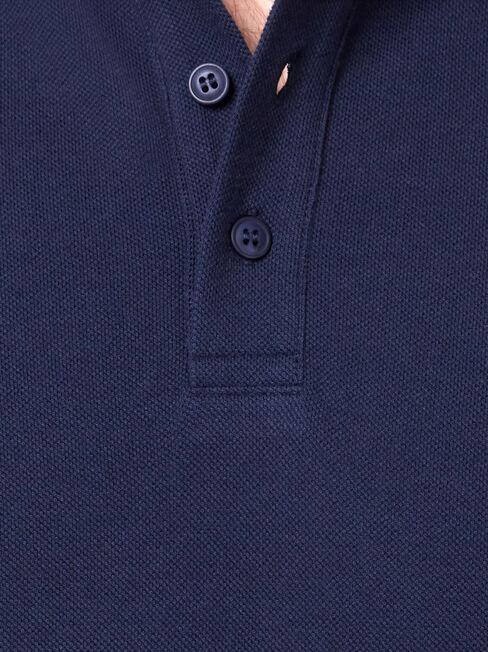 Jacob Short Sleeve Polo, Blue, hi-res