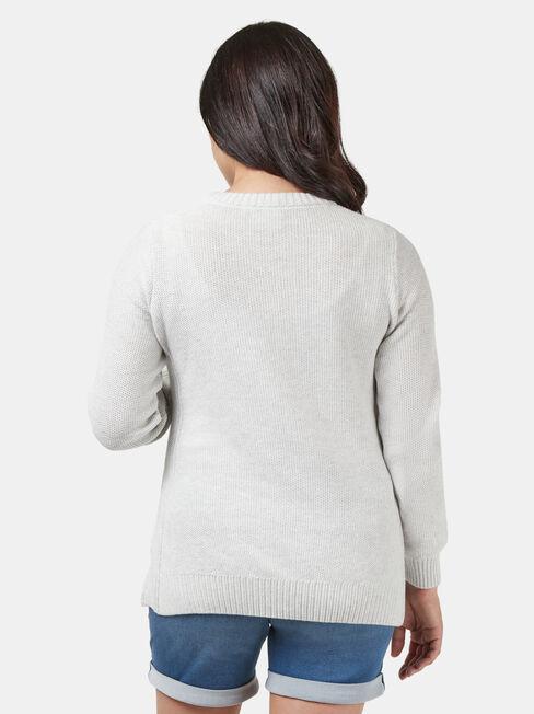 Emily Side Split Maternity Knit, Grey, hi-res