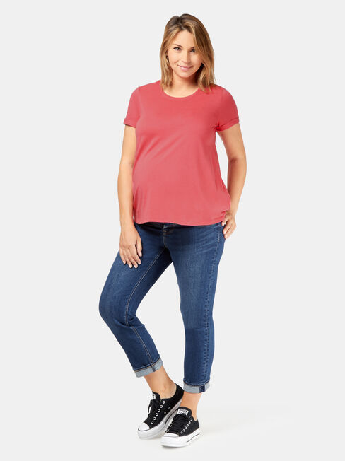 Frances Baby Bump Tee, Red, hi-res