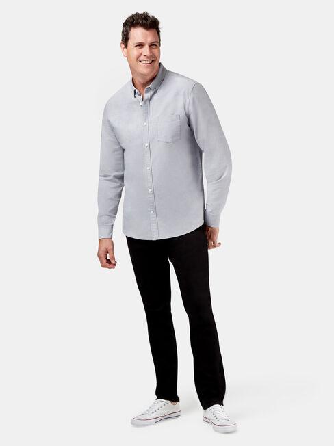 Peyton Long Sleeve Oxford Shirt, Grey, hi-res