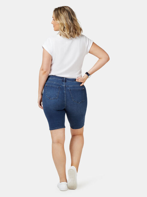 Talia Curve Embracer Knee Length Short, Blue, hi-res