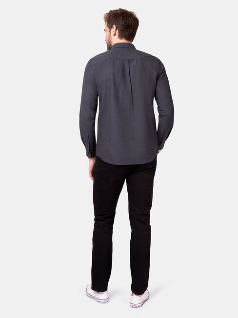 Bennett Long Sleeve Textured Shirt, Black, hi-res