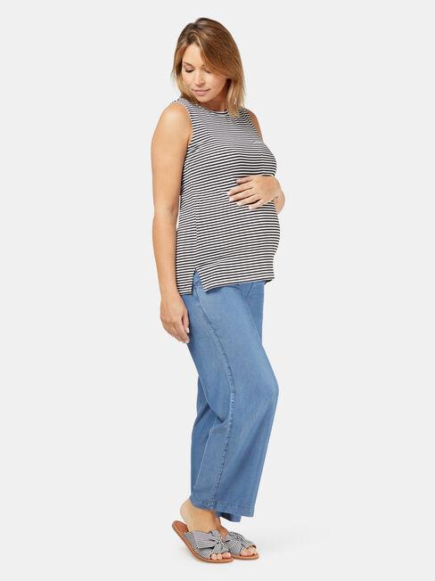 Nicole Maternity Tank, Stripe, hi-res