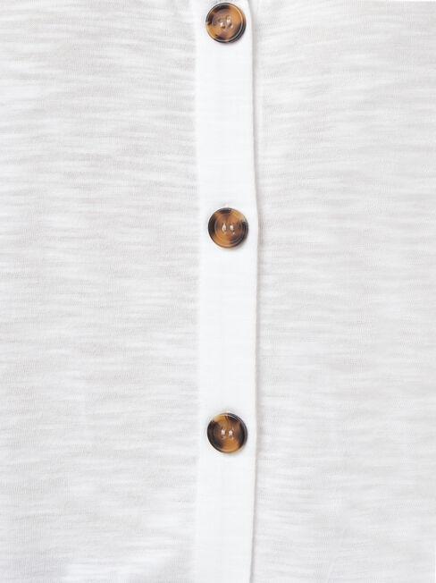 Vivienne Tie Front Top, White, hi-res