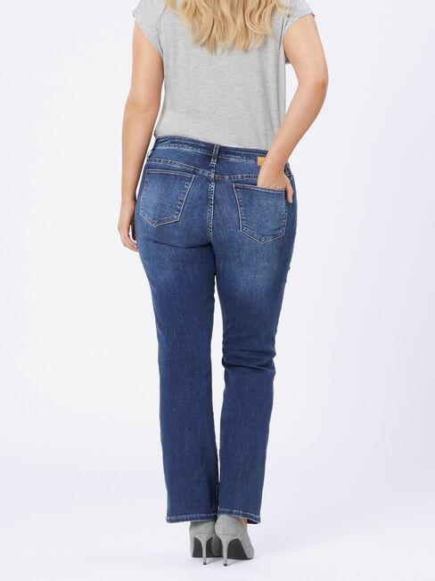 Curve Embracer Bootcut jeans Sea Blue, MidWash, hi-res