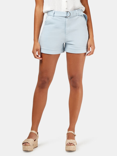 Silvie Belted Short, Blue, hi-res