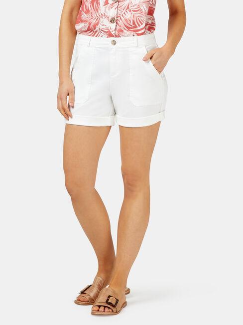 Jasmine Chino Short, White, hi-res