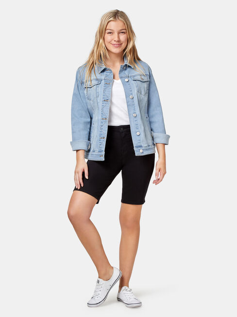 Tully Knee Length Short, Black, hi-res