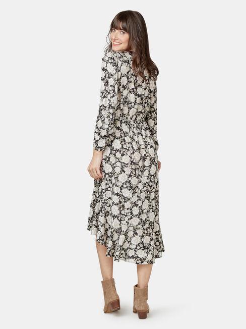 Sandy Concave Long Sleeve Dress, Floral, hi-res