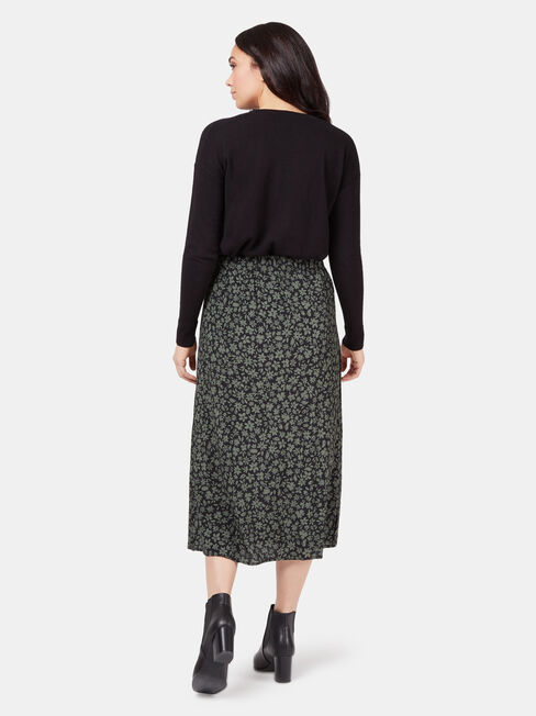 Hallie Skirt, Black, hi-res