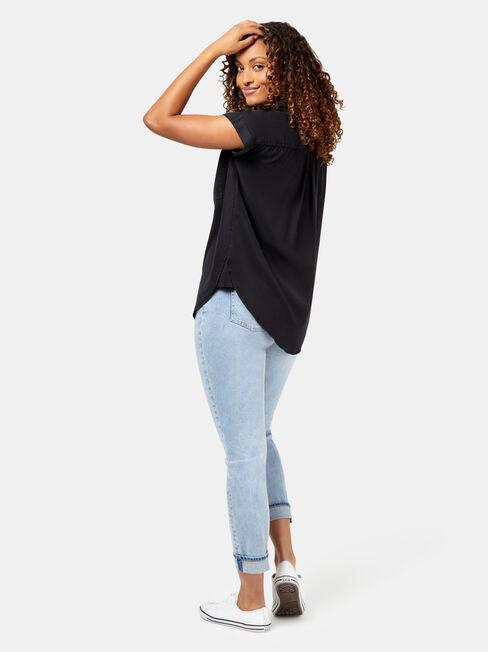 Roxanne Shirt #, Black, hi-res