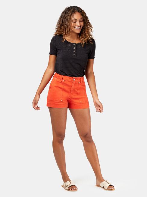 Caroline Studded Short, Red, hi-res