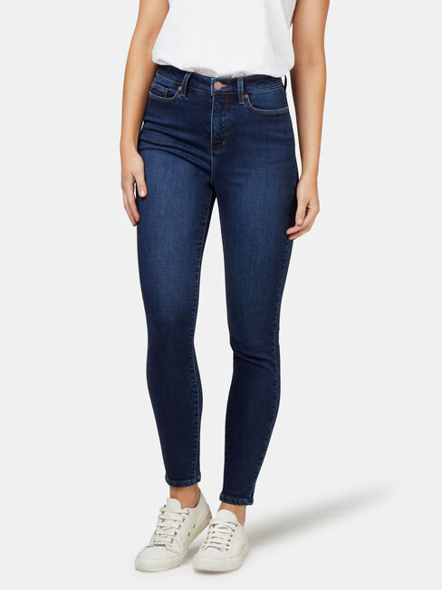 Feather Touch H/W Skinny 7/8 Jeans