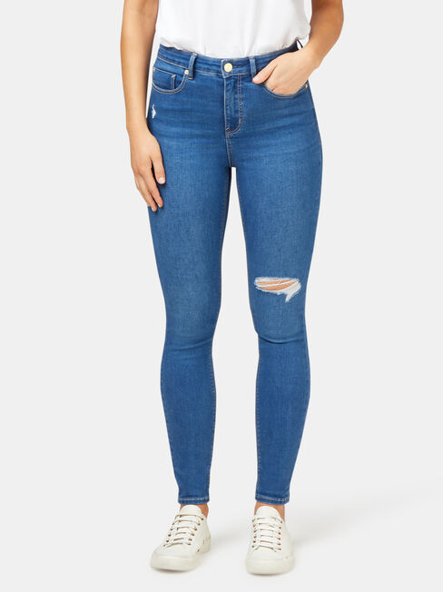 Valerie Mid Waisted Skinny 7/8 Jeans