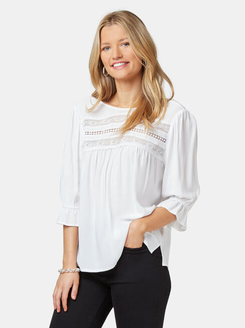 Louisa Lace Yoke Blouse
