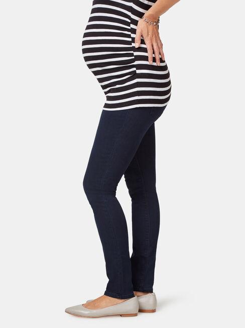 Maternity Skinny jeans Indigo Ink, Dark Indigo, hi-res