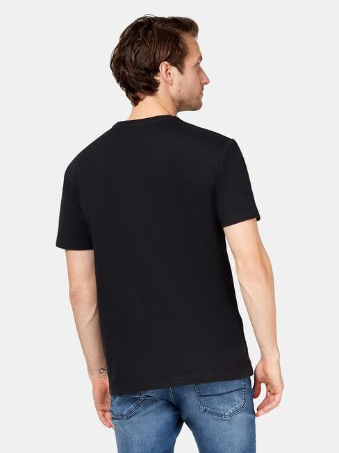 Cyrus Short Sleeve Print Crew Tee, Black, hi-res