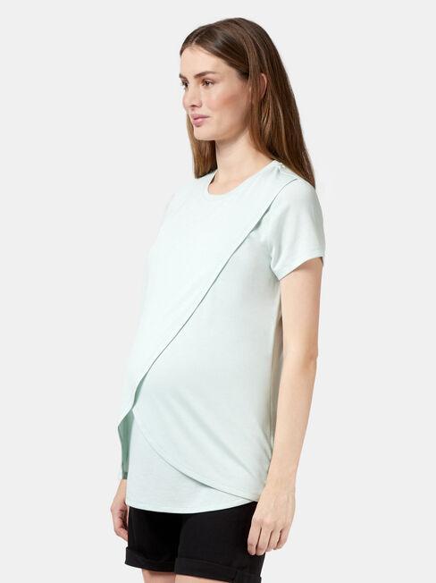 Cherry Maternity Top, Blue, hi-res