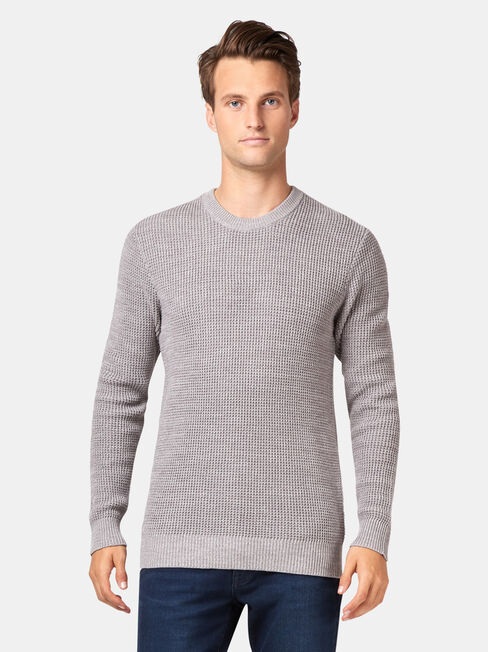 Eastvale Textured Crew Knit, Grey, hi-res
