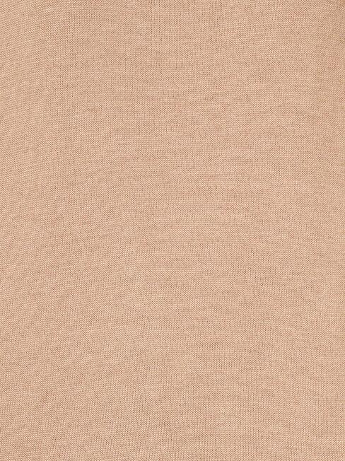Aspen Essential Curve Hem Pullover, Brown, hi-res