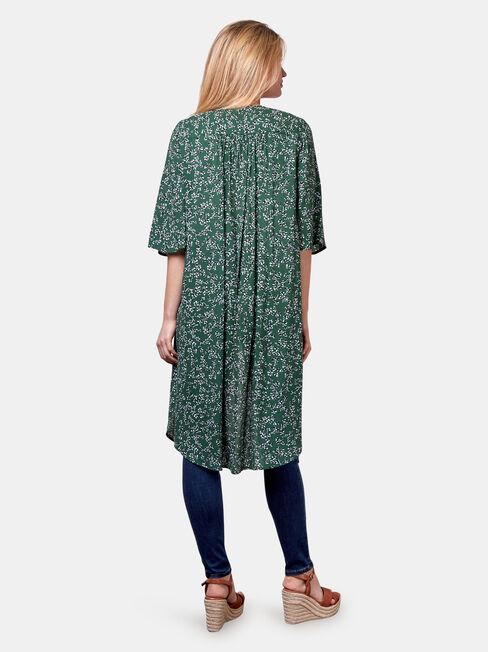 Monica Longline Kimono, Green, hi-res