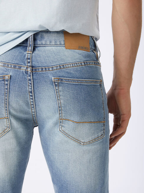 Slim Tapered Jeans Ice Blue, No Wash, hi-res