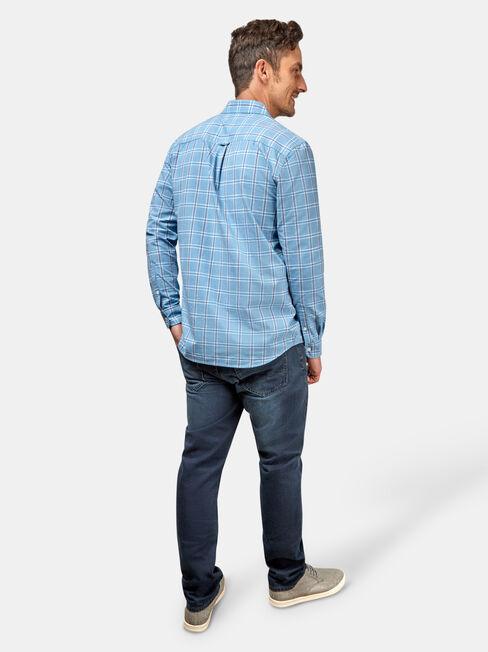 Juno Long Sleeve Check Shirt, Blue, hi-res
