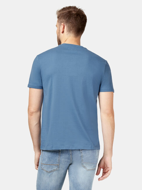 Eddie Short Sleeve Print Crew Tee, Blue, hi-res